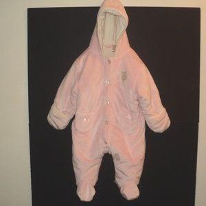 U.S. Polo Assn. Girl's 6-9 Mos Pink Bunting Pram